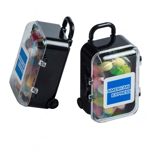 Acrylic Carry-on Case packed with promotional Jelly Belly Jelly Beans 50g
